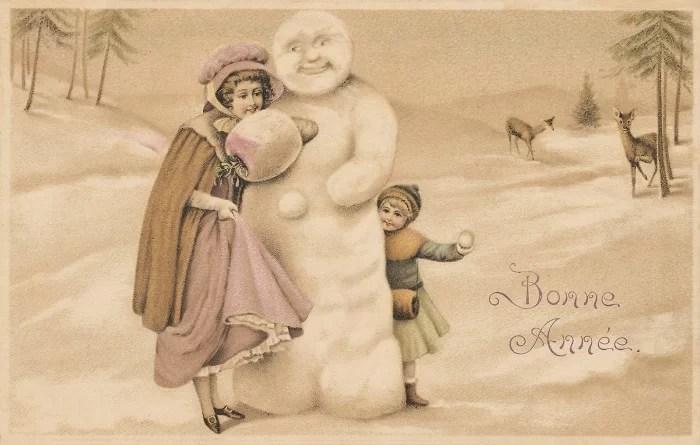 Старые новогодние открытки 33