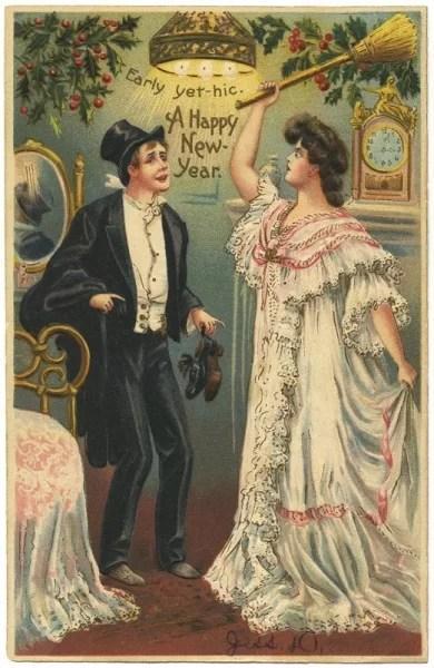 Старые новогодние открытки 37
