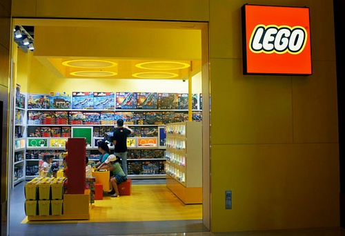 Lego toy store at Resorts World Sentosa in Singapore.