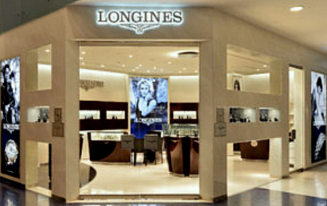 Longines watch store at Marina Square in Singapore.