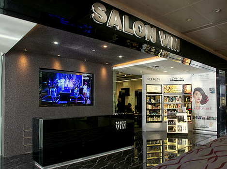 Salon Vim hair salon in Singapore.