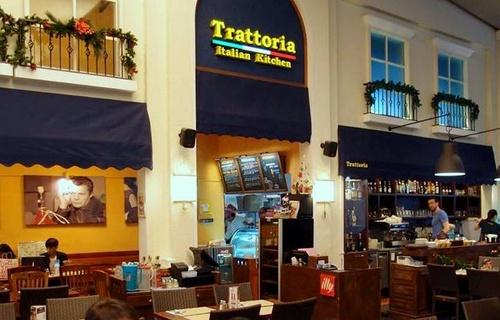 Trattoria Italian Kitchen restaurant in 313@Somerset in Singapore.