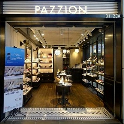 Pazzion shoe and bag store Junction 8 Singapore.