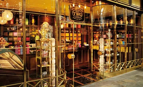 TWG Tea on the Bridge boutique Marina Bay Sands Singapore.