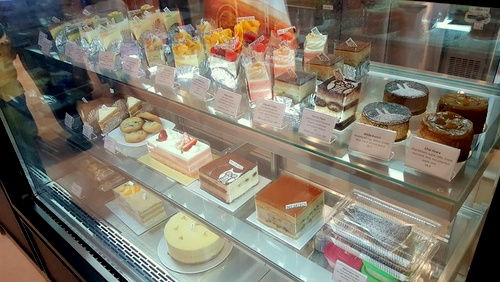 Out of the Cake Box bakery shop's cakes & tarts Singapore.