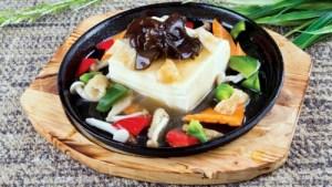 Kwan Inn Vegetarian Restaurant Bamboo Fungus with Tofu meal Singapore.