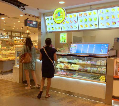 365 Juices Bar at The Centrepoint mall in Singapore.