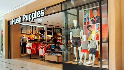 Hush Puppies Apparel clothing store at Jurong Point shopping centre in Singapore.