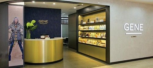 Gene by Ginrich hair salon at Wisma Atria shopping centre in Singapore.