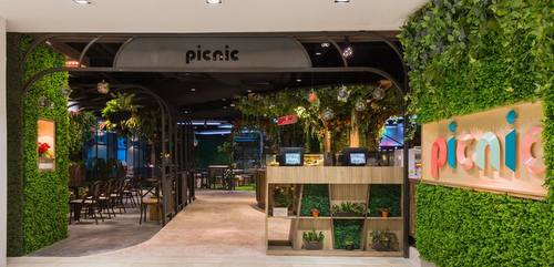 Picnic Urban Food Park at Wisma Atria shopping centre in Singapore.