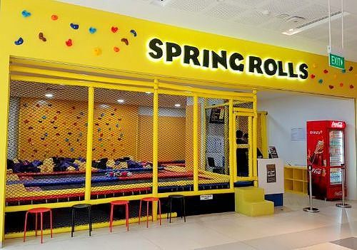 Spring Rolls trampoline park at Westgate Mall in Singapore.