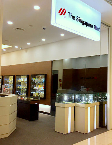 The Singapore Mint store at City Square Mall in Singapore.