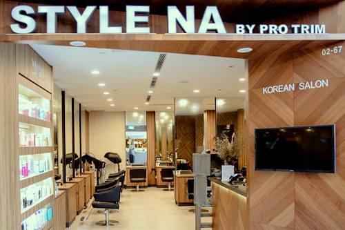 Style Na by Pro Trim Korean hair salon at Parkway Parade mall in Singapore.
