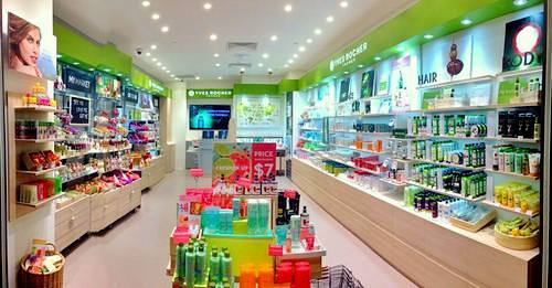 Yves Rocher cosmetics flagship store at Ngee Ann City in Singapore.