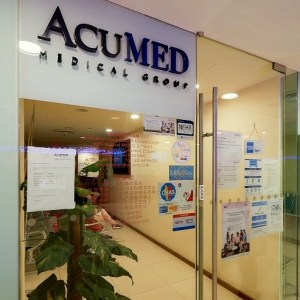 AcuMed Medical Group clinic at Jurong Point shopping centre in Singapore.