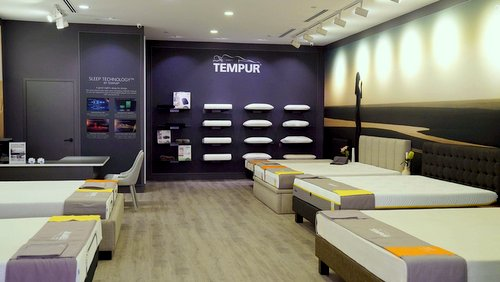 Tempur store at Marina Square mall in Singapore.