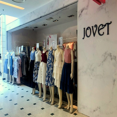 Jovet clothing store at Jurong Point shopping centre in Singapore.