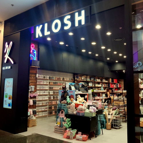 KLOSH home decor and lifestyle products store at Jurong Point mall in Singapore.