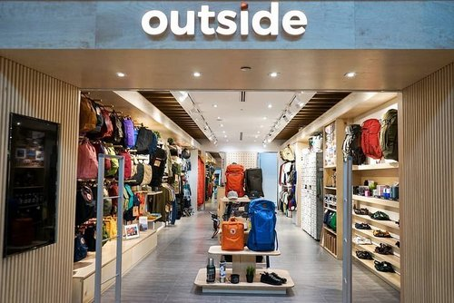 Outside store at Paragon mall in Singapore.