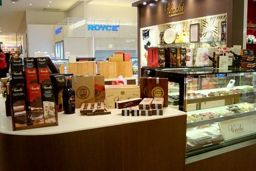 Venchi chocolate & ice cream cafe at Takashimaya Department Store in Singapore.