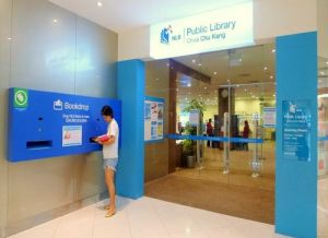 Choa Chu Kang Public Library at Lot One Shoppers' Mall in Singapore.