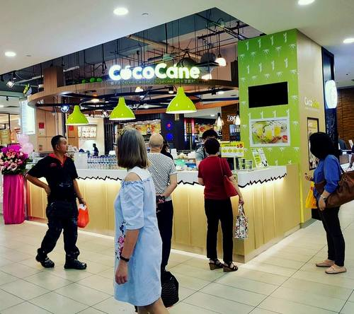 CocoCane juice bar at YewTee Point mall in Singapore.