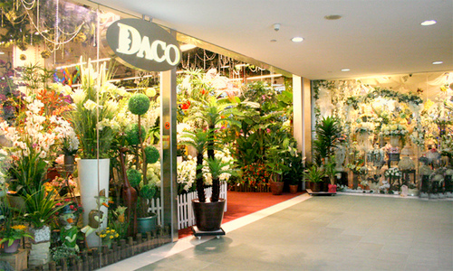 DACO artificial flowers & plants shop at Kinex mall in Singapore.