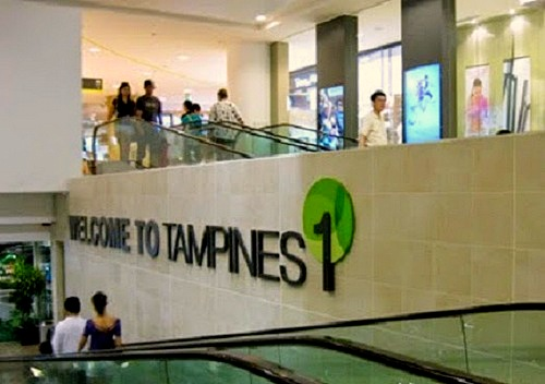 Tampines 1 mall in Singapore.