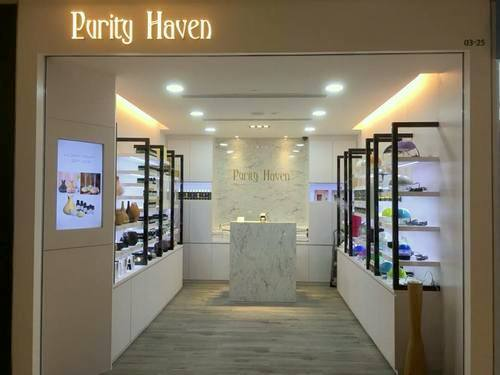 Purity Haven aromatherapy store at Century Square mall in Singapore.