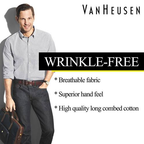 Van Heusen wrinkle-free shirts, available in Singapore.