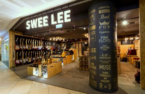 Swee Lee Music Company store at 112 Katong mall in Singapore.