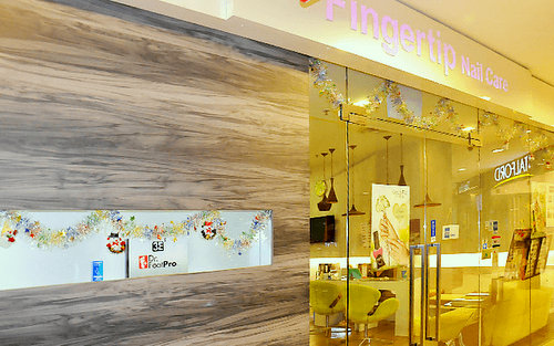 Fingertip Nail Care salon at Hougang Mall in Singapore.