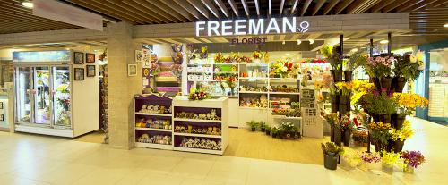 Freeman Florist flower shop in Singapore.