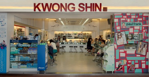 Kwong Shin Optical store at Bras Basah Complex in Singapore.