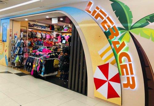 Liferacer shop at Bukit Panjang Plaza mall in Singapore.