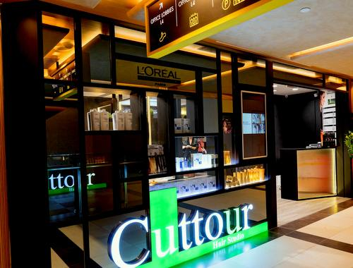 Cuttour Hair Studio at OUE Downtown Gallery in Singapore.