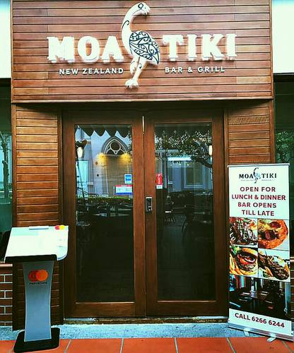 Moa Tiki New Zealand Bar & Grill at CHIJMES in Singapore.