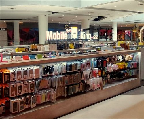 Mobile King shop at Bugis+ mall in Singapore.