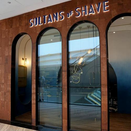 Sultans of Shave barbershop at Jewel Changi Airport in Singapore.