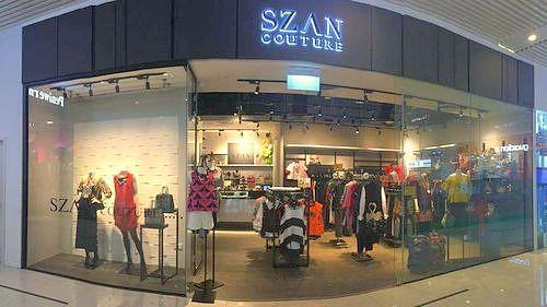SZAN Couture clothing store in Singapore.