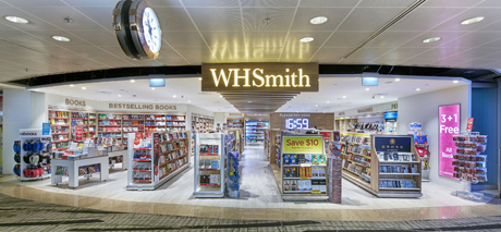 WH Smith store at Changi Airport in Singapore.