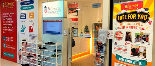 AGrader Learning Centre at Djitsun Mall in Singapore.