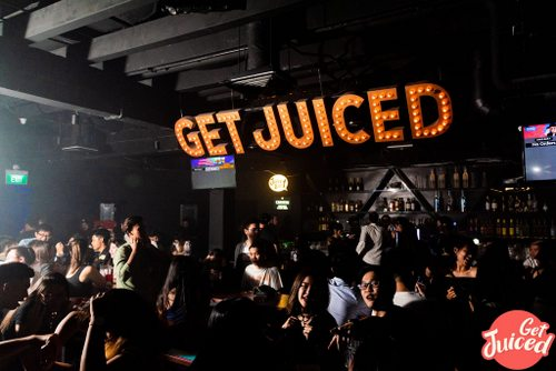 GET JUICED bar & club at Clarke Quay in Singapore.