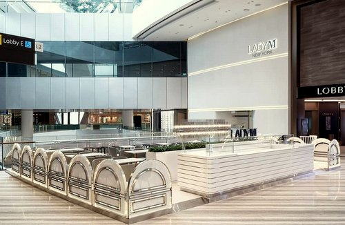 Lady M shop at Jewel Changi Airport in Singapore.