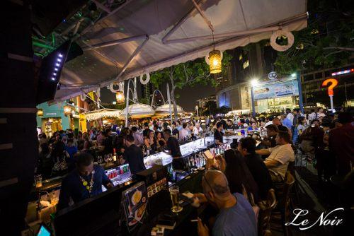 Le Noir Bar & Lounge at Clarke Quay in Singapore.