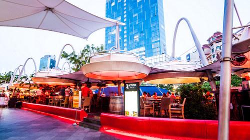 Octapas Spanish Tapas Bar & Restaurant at Clarke Quay in Singapore.