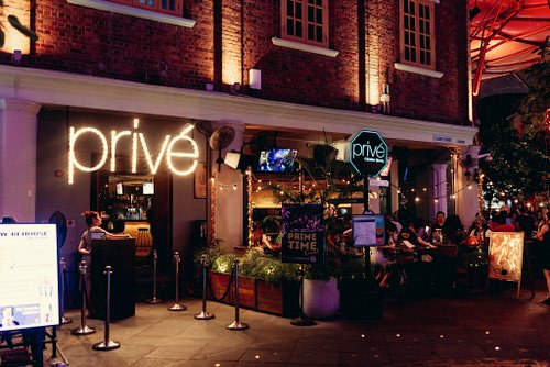 Privé Dance Club & Restaurant at Clarke Quay in Singapore.