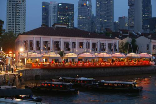 Quayside Seafood restaurant at Clarke Quay in Singapore.