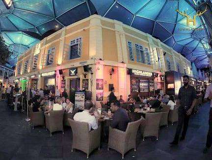 The Highlander Bar & Restaurant at Clarke Quay in Singapore.