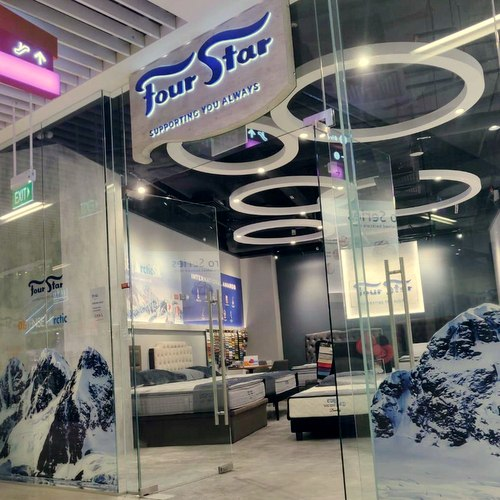 Four Star mattress shop at Kinex mall in Singapore.